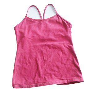 Lululemon Power Y Tank Top Pink Built-in Bra